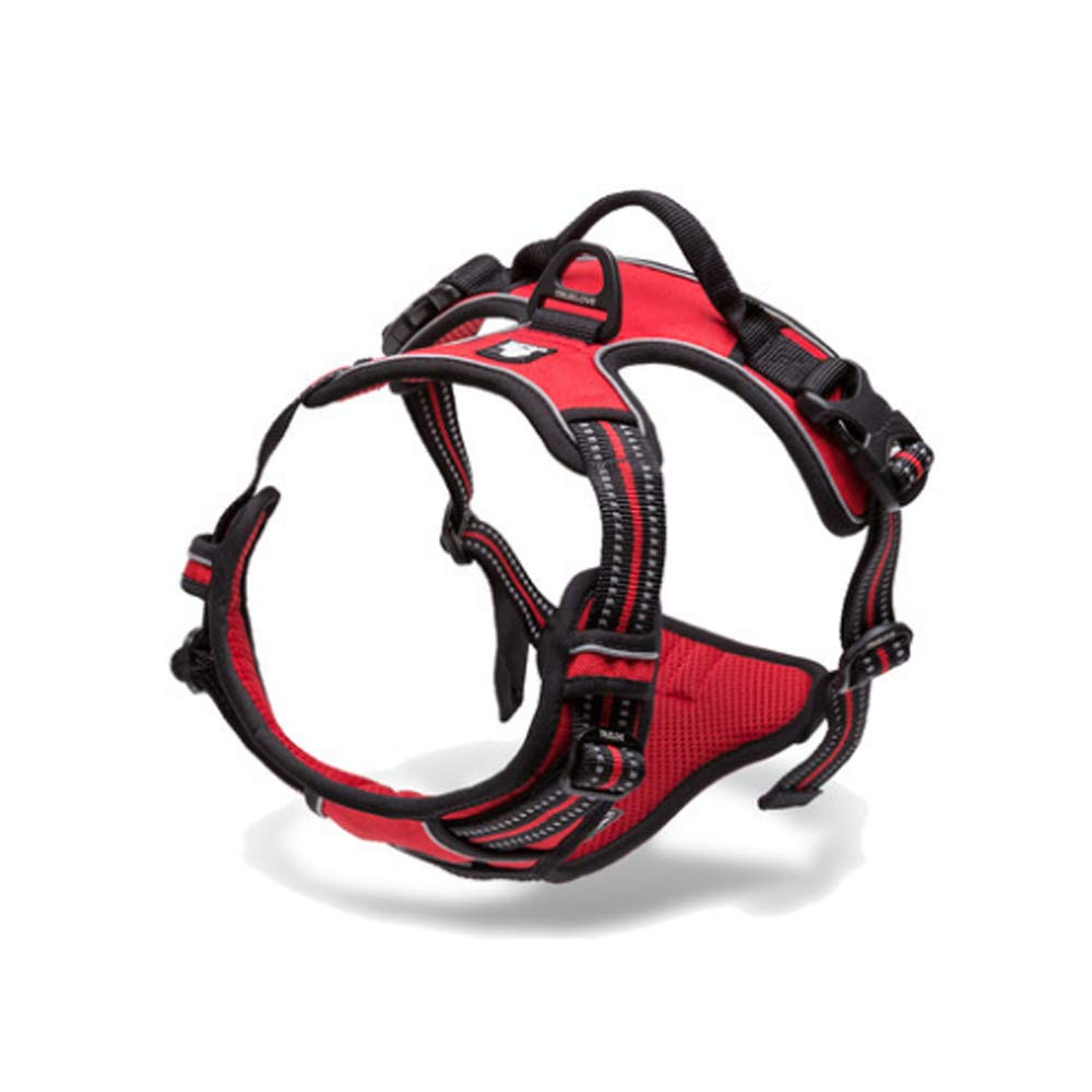 RED M RED M Chest Strap pet Comfortable and Flexible Dog Chest Strap (color   RED, Size   M)