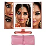 Vanity Makeup Mirror Lights - Magnifying Mirror with 36 LED's - Tri Fold Lighted Cosmetic Mirror with Dual Power Touch Screen -Travel Mirror - Newer Version