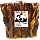 "Downtown Pet Supply Braided BULLY Stick - 100% Natural By 5"" (3 Pack)"