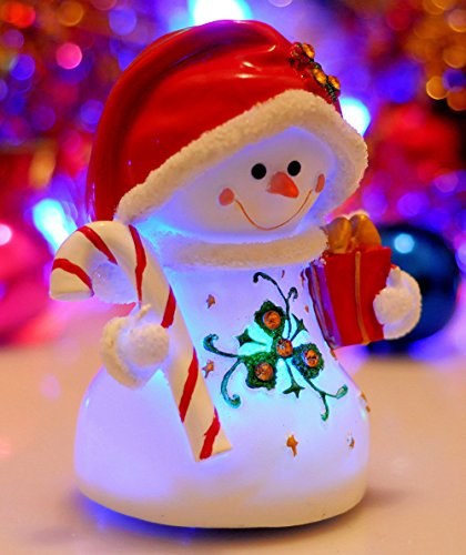 Honeygifts Luminous Rotary Music Box, Xmas Presents Christmas Snowman - Teacher To Merry Wishes Christmas