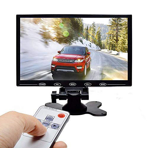 Camecho HD 9 Inch Monitor 800x480 TFT Color Screen, 2 Video Input/HDMI / VGA, Support Mini PC Display, Car Backup,CCTV, Home Security, with Remote Control