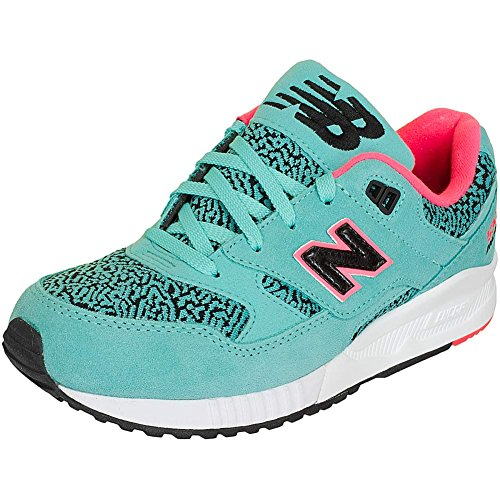 New Balance Damen Sneaker W 530 B Suede/Text/Leather Türkis Türkis