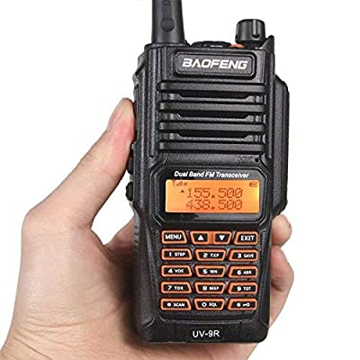 BFTECH Direct Walkie Talkies UV-9R 5W Two Way Radio BF-UV9R IP67 Waterproof Dual Band Ham Radio - Black: Car Electronics