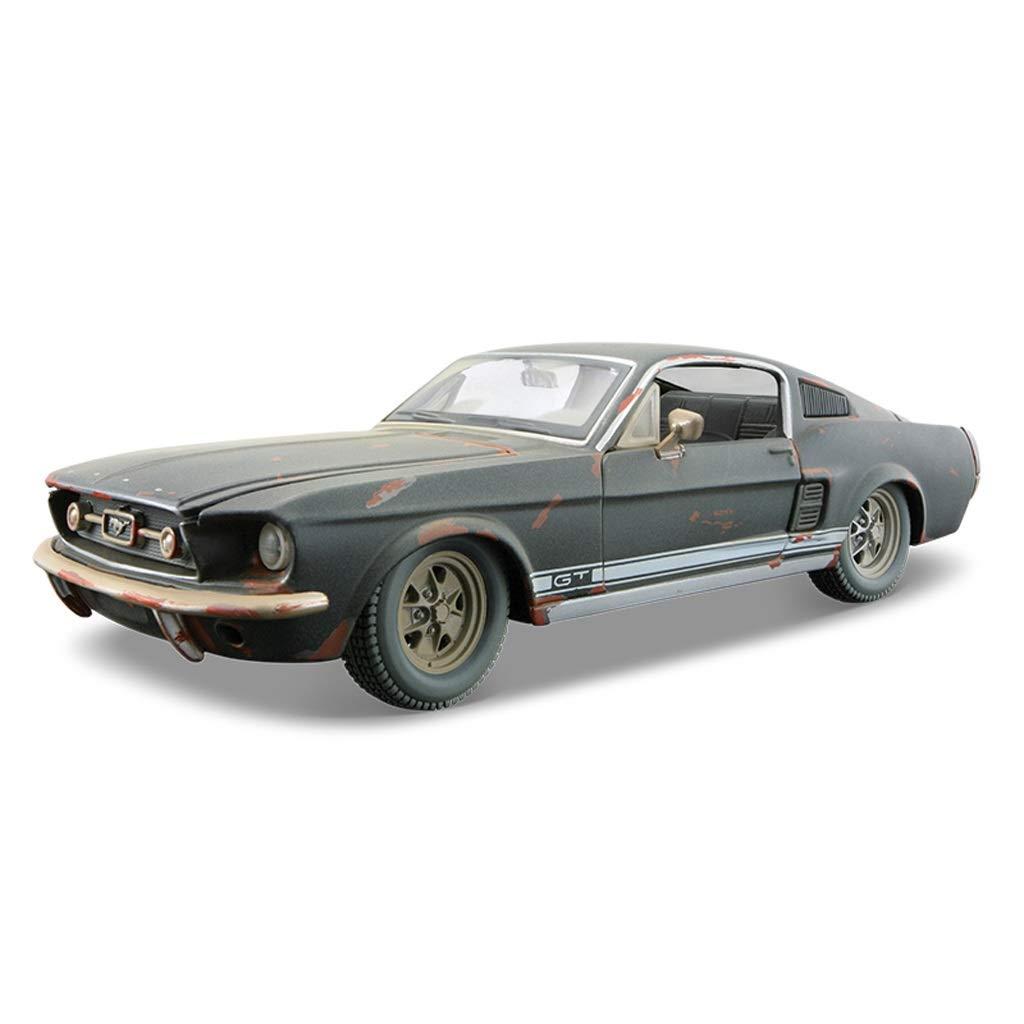 HXGL-Modello d'auto Modello di Auto in Lega Modello di Auto Originale in Metallo Collezione Ornamenti Ford Mustang Old Version Semi-Matte nero ( Colore   Half Matte nero )