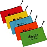 "Canvas Tool Bags - Heavy Duty 16 oz. Tool Pouch 12.5"" x 7"" Canvas Zipper Bag [5 Pack - Color Coded] Durable Storage, Organiser Bag, Tote Bags // Great For Small Tools, Supplies, Men, Women, Kids"