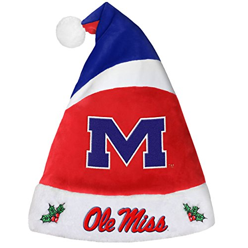 Forever Collectibles NCAA Mississippi Old Miss Rebels Santa HatBasic, Team Colors, One Size