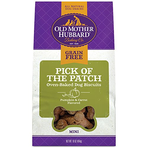 - Old Mother Hubbard Pick Of The Patch Grain Free Oven Baked Mini Dog Treats, Carrot & Pumpkin, 16-Ounce Bag
