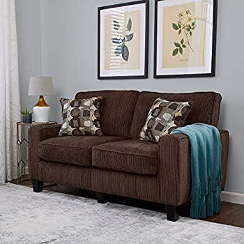 Amazon Com Roundhill Furniture Fabric Loveseat With 2