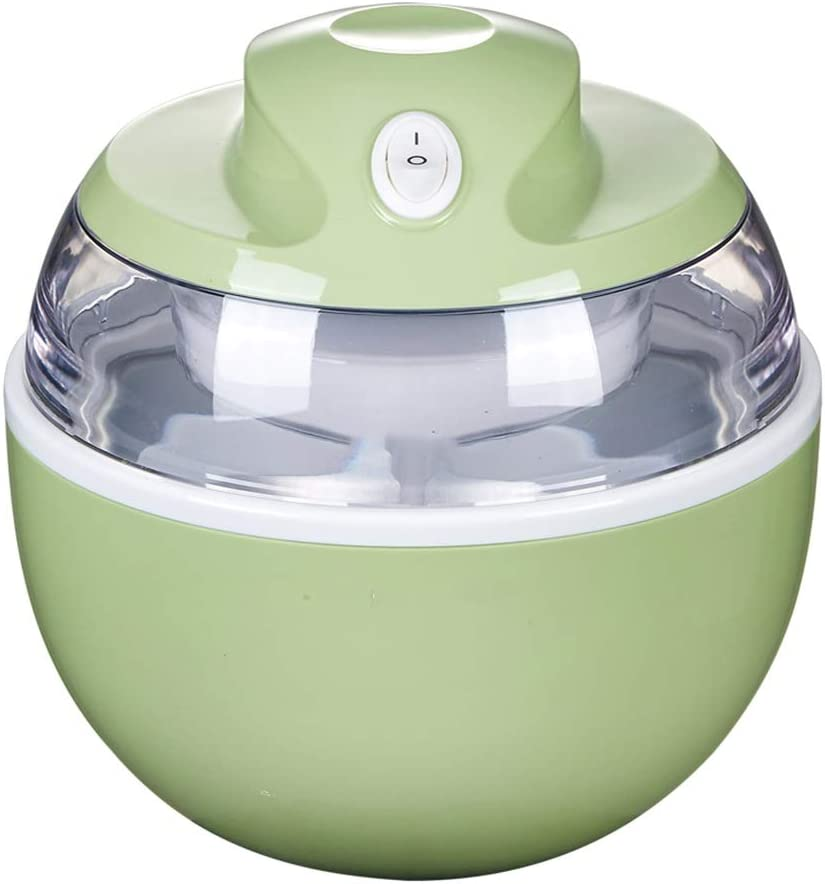 ZTT 1 Quart Ice Cream and Sorbet Maker, Frozen Yogurt, Gelato, and Custard Machine,Fruit ice cream machine,for kids kitchen home (Color : Green)