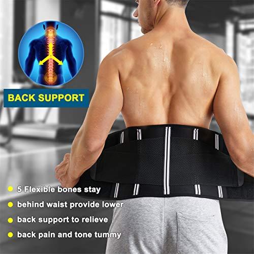 FORIDE High Waist Trainer Belt for Women Waist Cincher Trimmer Sports Slimming Body Shaper Band Sport Girdle Belt with Dual Adjustable Belly Fitness Workout Unisex