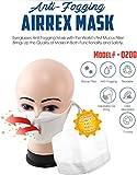 AirRex Anti-Fogging Fashion Face Mask Protecting From Pollen, Dust, Allergen, Cold & Flu (Black)