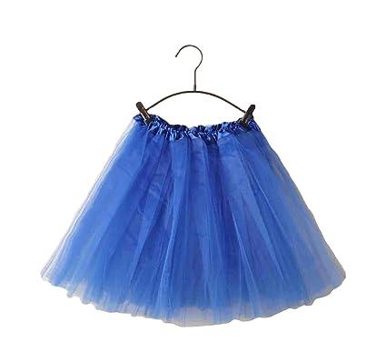 FreestyleMo - Falda - globo - para mujer blanco azul Talla única ...