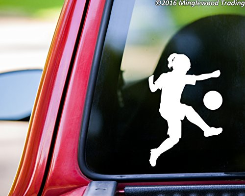Minglewood Trading Soccer Player Girl Kicking Ball vinyl decal sticker 5