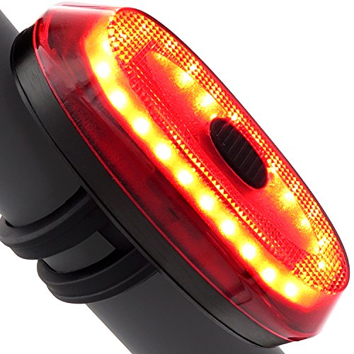 Ampulla Motion Sensor Bike Taillight Bike Brake Light USB Rechargeable Ultra Bright Bike Rear Light Fits On Any Road Bikes, Helmets, Cycling Safety Flashlight With Brake Sensing (Jet (Any Brake)
