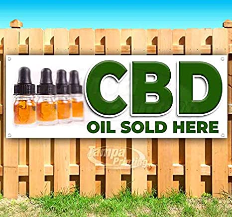 Advertising Flag, CBD Natural Acne Treatment Extra Large 13 oz Heavy Duty Vinyl Banner Sign with Metal Grommets Store New Many Sizes Available