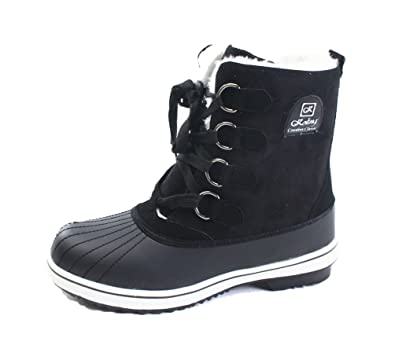 Amazon.com | Womens Black Winter Warm Snow Sneakers Boots | Snow Boots