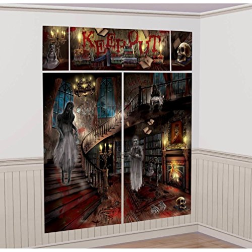Lunarland HAUNTED MANSION Scene Setter SCARY HOUSE Halloween Party Decoration Backdrop NEW