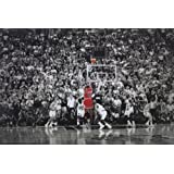 "Michael Jordan - Title Winning Last Shot for Chicago Bulls - Poster""36 x 24"""
