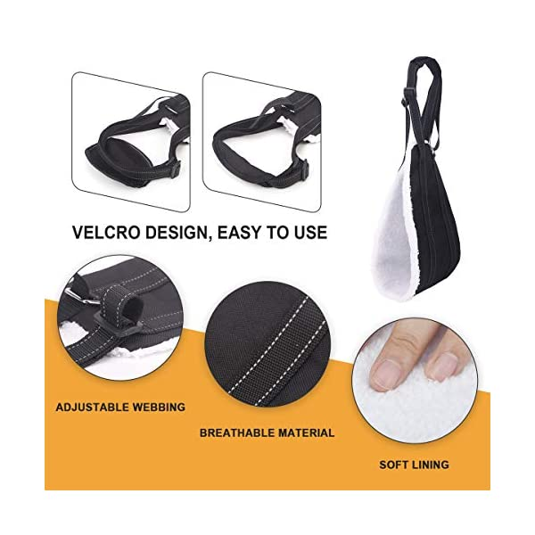 Bolux Portable Dog Sling Rear Legs – Dog Lift Harness for Back Legs, Adjustable Hip Support Harness for Canine Aid… Click on image for further info. 2