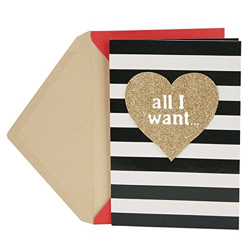 Hallmark Mahogany Valentine's Day Greeting Card for Husband (Gold Heart and Stripes)