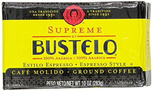 Supreme By Bustelo Espresso Style Coffee, 10 Ounce (Pack of 12)