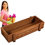 Wooden Plant Seeds Box, Indoor Outdoor Windowsill