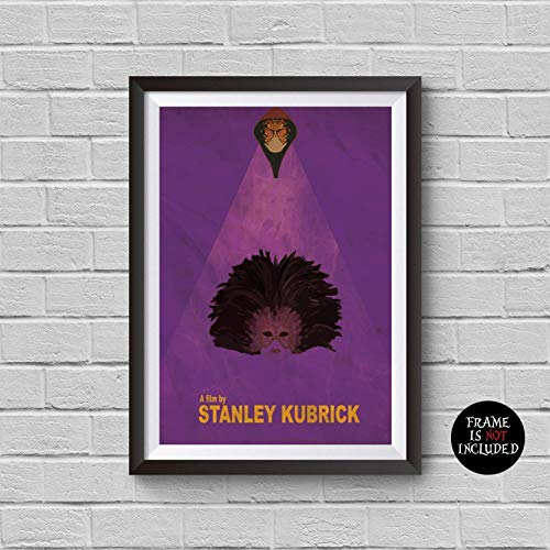 Eyes Wide Shut Minimalist Poster Stanley Kubrick Alternative Movie Print Home Decor Illustration Cult Classic Cinema Tom Cruise Nicole Kidman Artwork Wall Art Hanging Cool Gift (Nicole Wall Hangings)