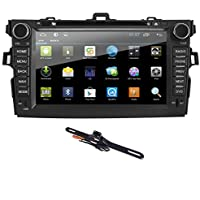 Quad Core Android 6.0 Car DVD Player with 8 Display, In Dash DVD Receiver with Bluetooth GPS Fit for Toyota Corolla 2007 2008 2009 2010 2011 + Backup Camera