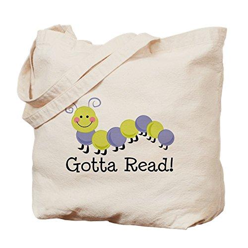 CafePress–Bücherwurm Gotta Lesen–Leinwand Natur Tasche, Reinigungstuch Einkaufstasche Tote S khaki