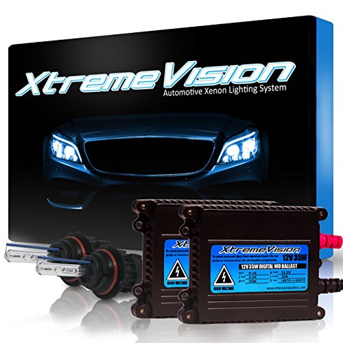 XtremeVision 35W HID Xenon Conversion Kit with Premium Slim Ballast - Bi-Xenon 9007 6000K - Light Blue - 2 Year Warranty