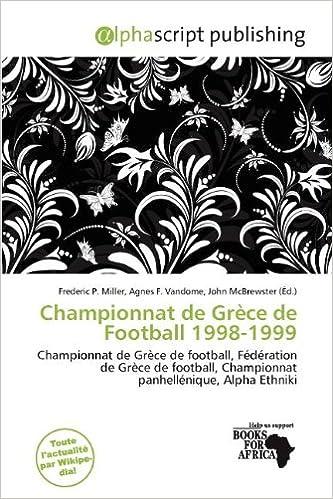 Livre Championnat de Gr Ce de Football 1998-1999 pdf