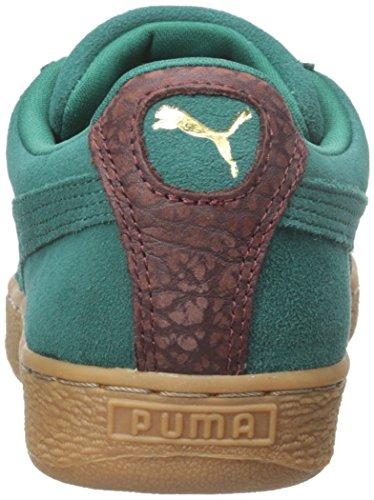 Puma Suede zapatillas clásicas de manera ocasional Storm/Oxblood/Gum