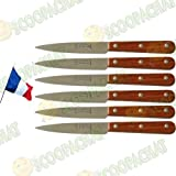 Lot 6 couteaux à steaks La fourmi fabrication Thiers