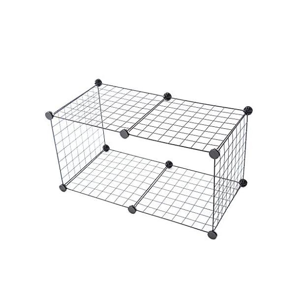 HOMYL Dog Pet Playpen Heavy Duty Metal Exercise Fence 6- Panel DIY Assemly 35x35cm (Black) Click on image for further info. 5