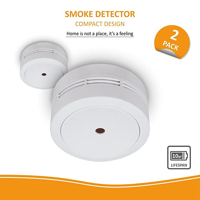 Elro fs781021 Mini Detector de Humo, 2 Unidades, 2 Unidades, Color Blanco: Amazon.es: Bricolaje y herramientas