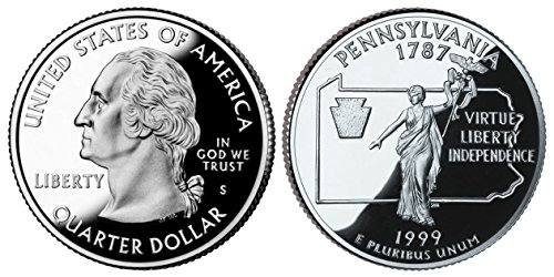 1999 S Proof Pennsylvania State Quarter PF1