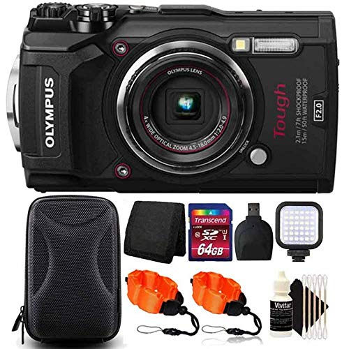 Olympus Tough TG-5 Waterproof Digital Camera 3'' LCD, Black W/ 64GB Accessory Kit by Teds (Image #9)