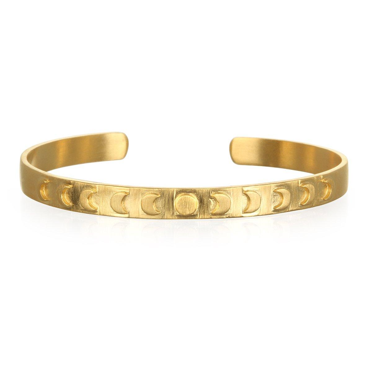 Satya Jewelry Gold Plate Moon Phase Cuff Bracelet