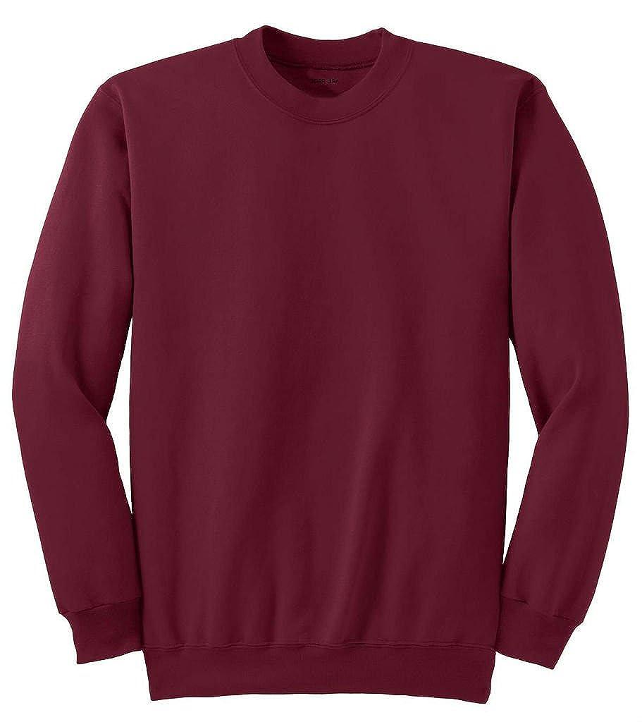 Joe's USA tm- Men's Tall Ultimate Crewneck Sweatshirt-Cardinal-XLT USAL061220151292