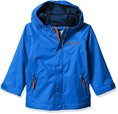 Columbia Toddler Kids Fast and Curious Rain Jacket, Super Blue Campin, 4T (Coat Reflective Jacket)