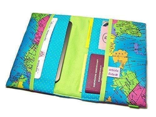 Reiseorganizer Reiseetui Dokumententasche mit eReader-Fach Weltreise