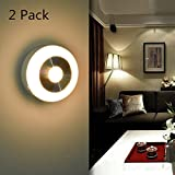 corner kitchen cabinet home depot GOESWELL Motion Sensor Night Light Battery Operated, Motion-sensing LED Stick-Anywhere Under Cabinet Lights for Stairs, Hallway, Bathroom, Kitchen, Closet (Pack of 2, Warm White)