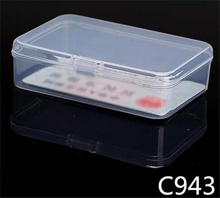PTOBBA C943 - Cajas de plástico Transparente para joyería, Varios tamaños: Amazon.es: Hogar