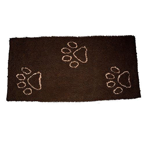 EXPAWLORER Dog Doormat Runner for Dirty Dogs 30-Inch by 61-Inch, Microfiber Absorbent Pet Door Mat, Brown