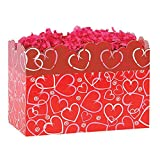 Large Layered Hearts Basket Boxes - 10 1/4 x 6 x 7 1/2in. - 78 Pack