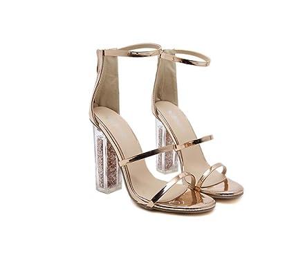 f2c9487cfb132 Amazon.com : LIANGXIE Women's Crystal with PVC High Heel-Fashion ...
