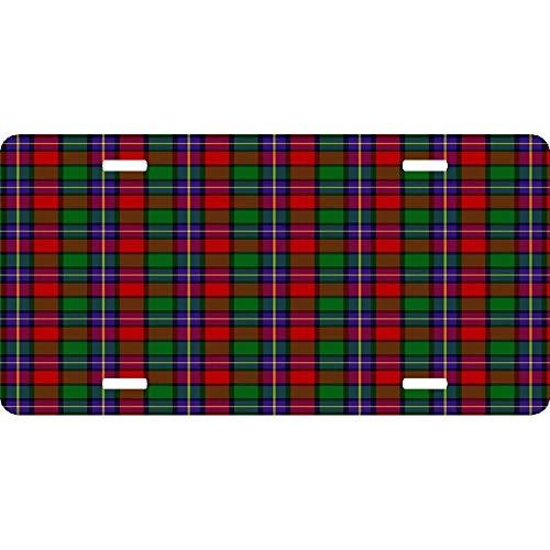 Clan Kilgore Tartan Personalized Aluminum License Plate Tag for Women/Men, Metal Sign Decor for US Vehicles - 12