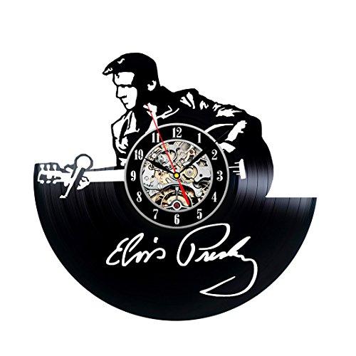 Elvis Presley Vintage Clock (Elvis Presley Vintage Handmade Vinyl Clock Gift)