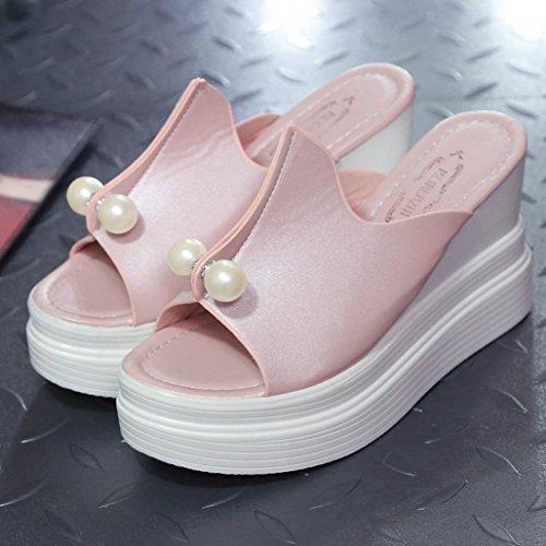 Perla Flip Sandali Pantofole Suola Donna Estate UOMOGO da Mare Ciabatte Spiaggia Antiscivolo Flops Infradito da Rosa da Oq86X