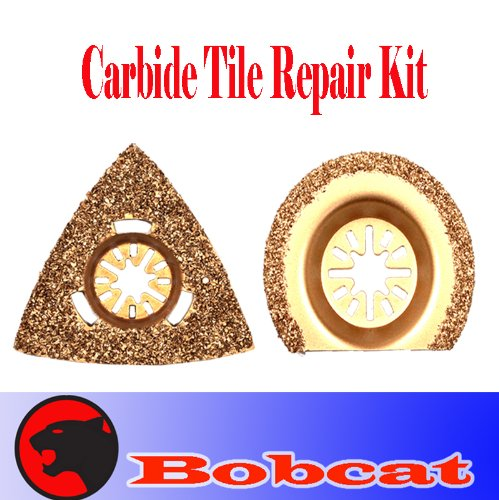 2 Pcs Grout Tile Cut Repair Kit Carbide Oscillating Multi Tool Saw Blades for Fein Multimaster Bosch Multi-x Craftsman Nextec Dremel Multi-max Ridgid Dremel Chicago